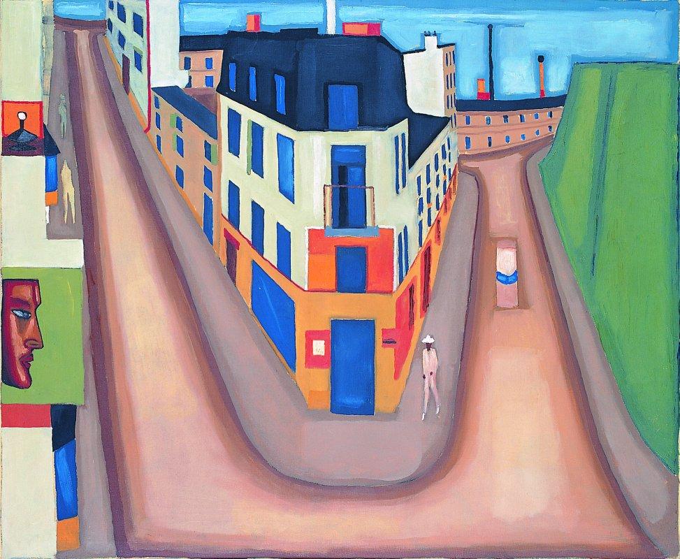 Krajobraz miejski [ Skrzyżowanie ulic ] 1965