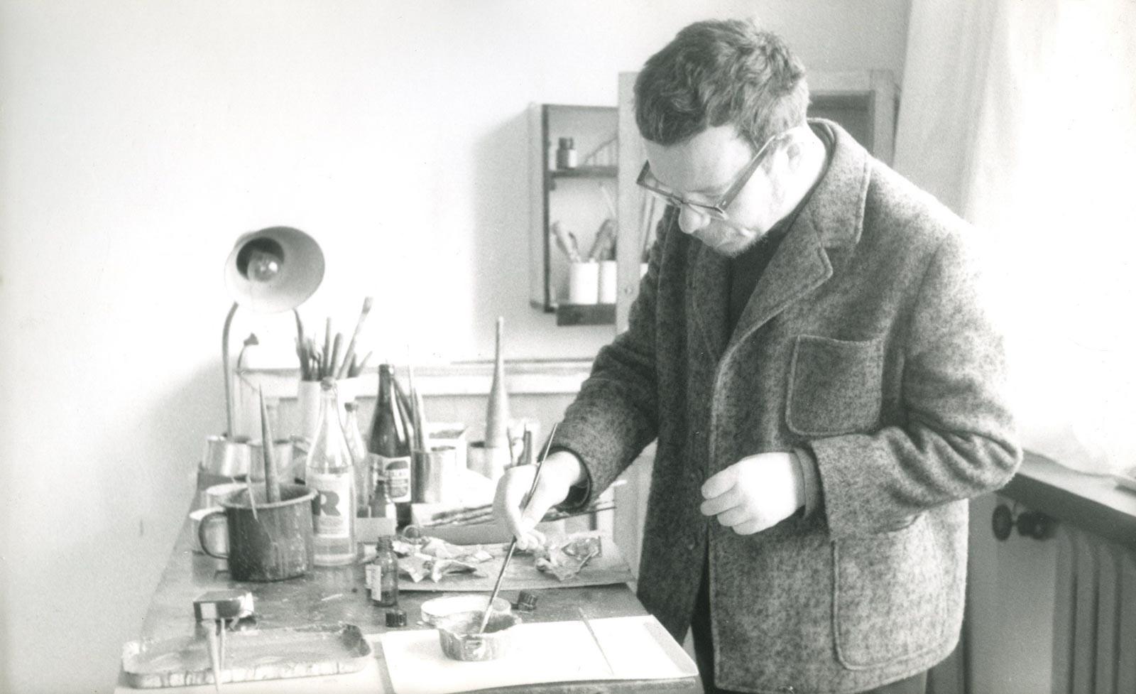 W pracowni, II poł. lat 60.
