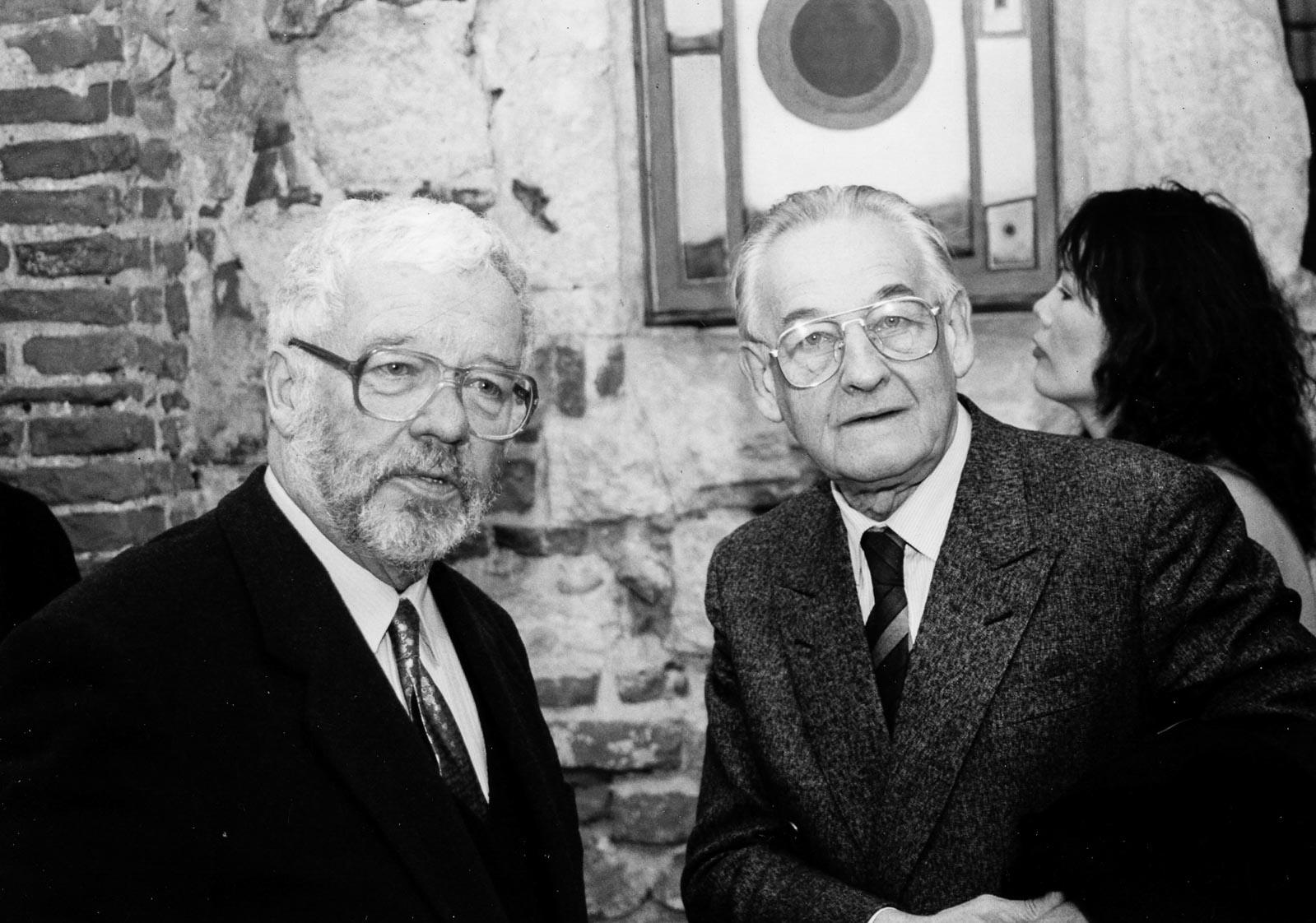 Z Andrzejem Wajdą, luty 1990