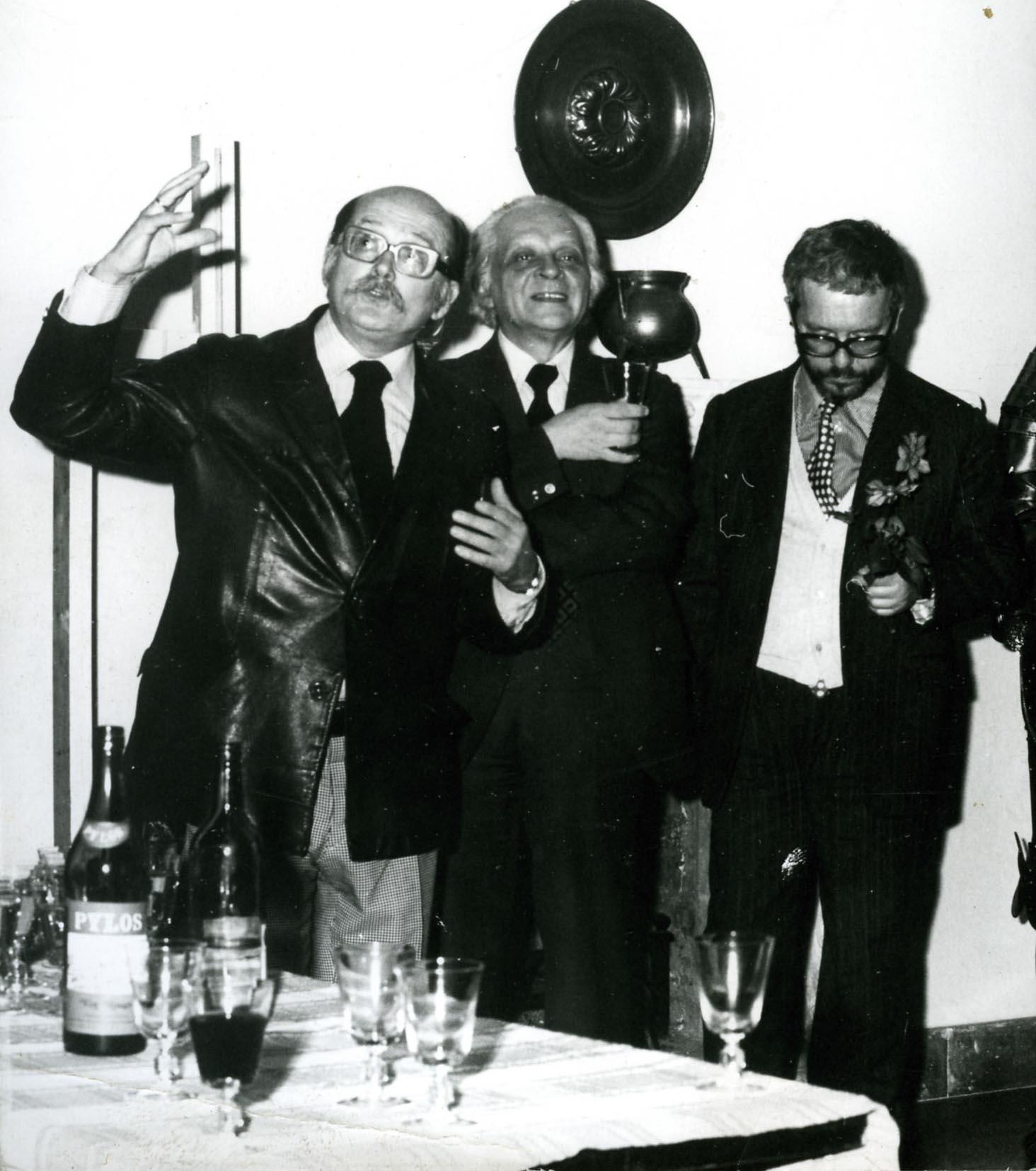Z Tadeuszem Borowskim i Mieczysławem Porębskim, IX 1978
