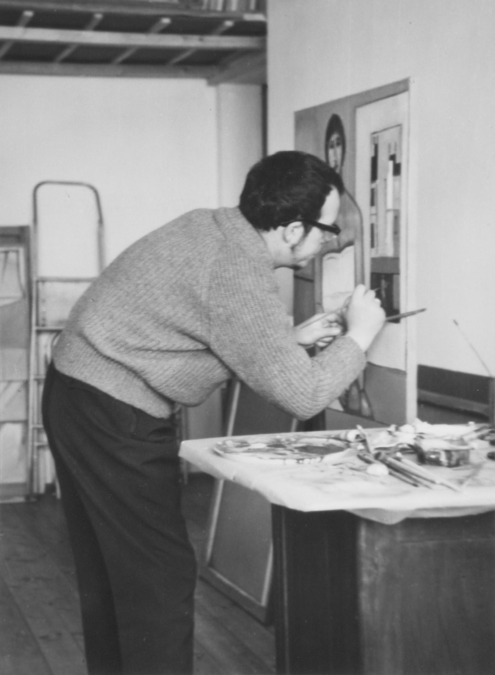 W pracowni, II poł lat 60.